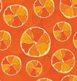 Seamless pattern with oranges - vector