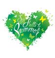 say hello summer heart green 380 vector image vector image