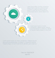 cogwheel template Cogwheel connection teamwork vector image