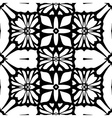 Floral lace background Seamless black pattern vector image