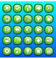 Game green buttons set vector image