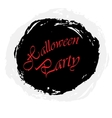 Halloween party grunge vector image