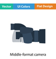 Icon of premium photo camera vector image