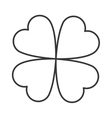 lucky shamrock icon vector image