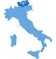 Map of Italy Bolzano vector image