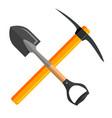 shovel and pickaxe tools vector image