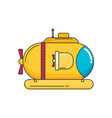 transportation submarine flat icon vector image