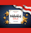 veterans day sale banner template patriotic vector image