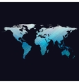 Blue color background with world map abstract vector image