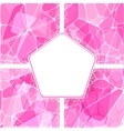Abstract pink card with lace label vector image vector image