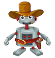 A robot with a hat and a cigar vector image vector image
