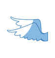 drawing wings feather bird angel icon vector image