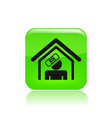 home accident icon vector image vector image