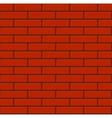 Seamless Tiled Red Brick Wall vector image