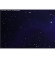 outer space star background Night sky vector image