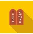 Ten Commandments icon flat style vector image