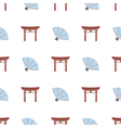 Seamless background with Japanese symbols vector image