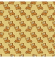 Vintage Cartoon Cats Pattern vector image