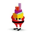 Christmas Santa Claus character with gift box vector image