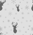 Christmas winter seamless pattern Head deer vector image