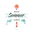 handdrawn abstract summer time fun vector image
