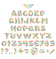 Multicolor font for children vector image