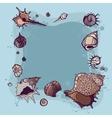 Summer Frame of seashells vector image