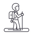 tourister line icon sign on vector image