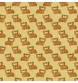 Vintage Cartoon Cats Pattern vector image
