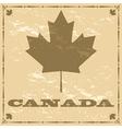 Vintage Canadian maple leaf vector image vector image