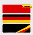 Germany Flags concept design vector image vector image