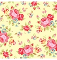 Floral pattern with pink rose vector image vector image