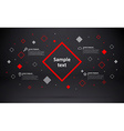 abstarct geometric background with place for text vector image