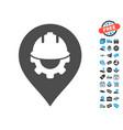 development helmet marker icon with free bonus vector image
