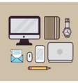 line art outline icon of laptop vector image