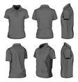 Mens black short sleeve polo-shirt vector image