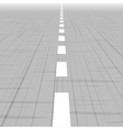 Road template with perspective vector image