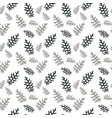 seamless pattern colorful naturalistic leaves vector image
