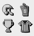 set amercan football elements to competition vector image