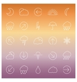 Set of linear weather icons vector image