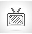 TV black simple line icon vector image