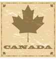 Vintage Canadian maple leaf vector image