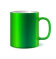 Green ceramic mug for printing corporate logo vector image