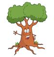 Cartoon Tree Character Waving A Greeting vector image vector image