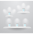 Shelf3sizes vector image
