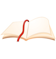 An empty book with a red bookmark vector image vector image