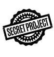 secret project rubber stamp vector image