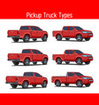 truck pickup types template drawing set vector image