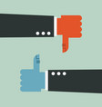 thumbs up and thumbs down vector image