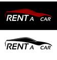 Rent a car logo vector image